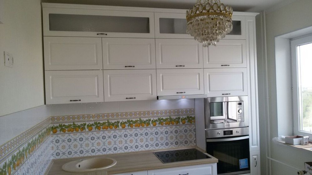 Акриловые кухни-Кухня МДФ в эмали «Модель 192»-фото1