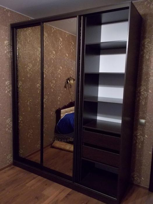 Большой шкаф-купе-Шкаф-купе с зеркалом «Модель 83»-фото2