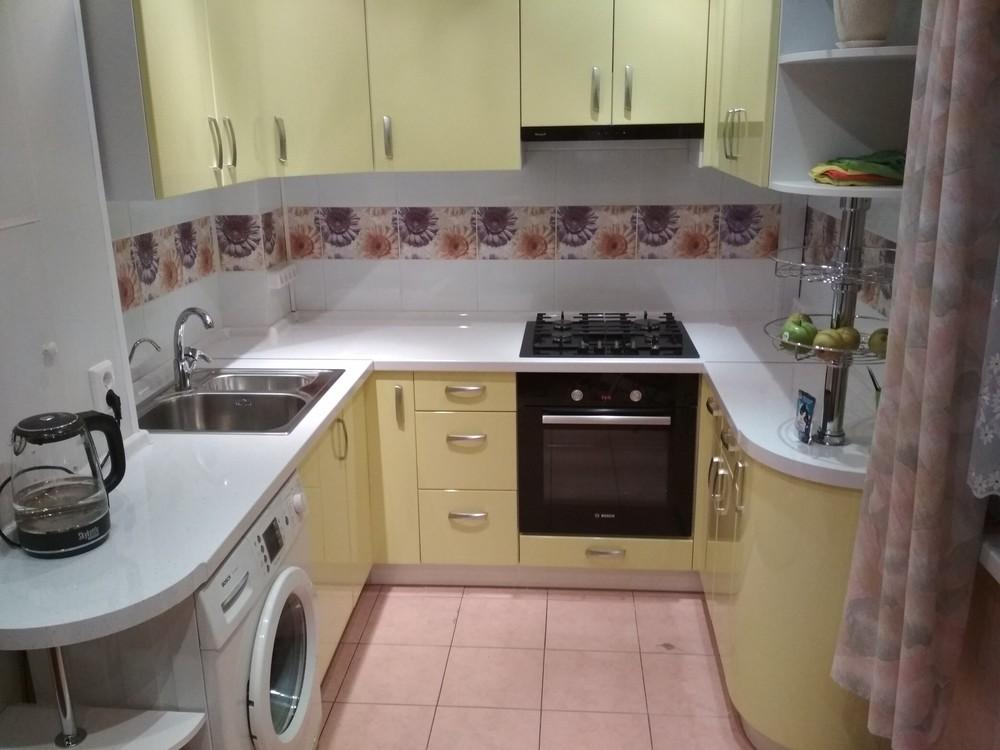Встроенная кухня-Кухня МДФ в ПВХ «Модель 184»-фото3