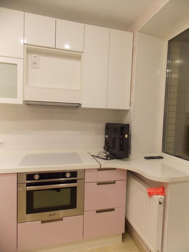 Белый кухонный гарнитур-Кухня МДФ в ПВХ «Модель 193»-фото3