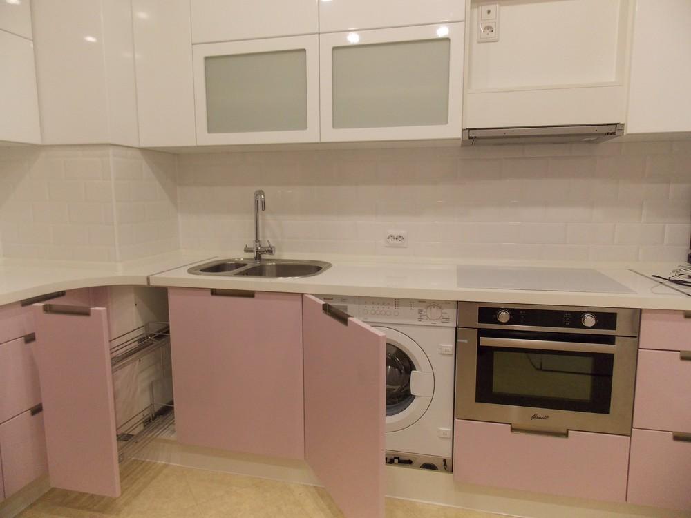 Белый кухонный гарнитур-Кухня МДФ в ПВХ «Модель 193»-фото5