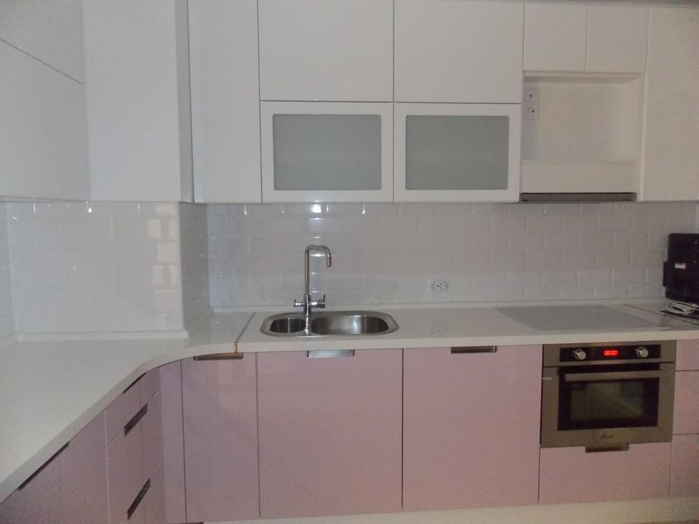 Белый кухонный гарнитур-Кухня МДФ в ПВХ «Модель 193»-фото9