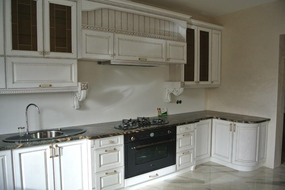 Белый кухонный гарнитур-Кухня из массива «Модель 179»-фото4