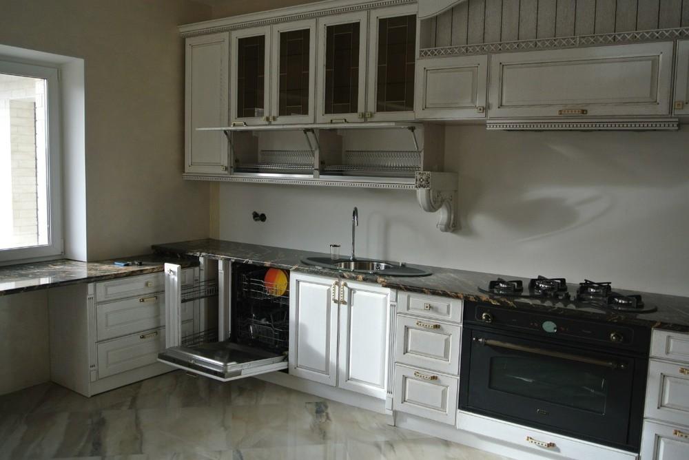 Белый кухонный гарнитур-Кухня из массива «Модель 179»-фото7