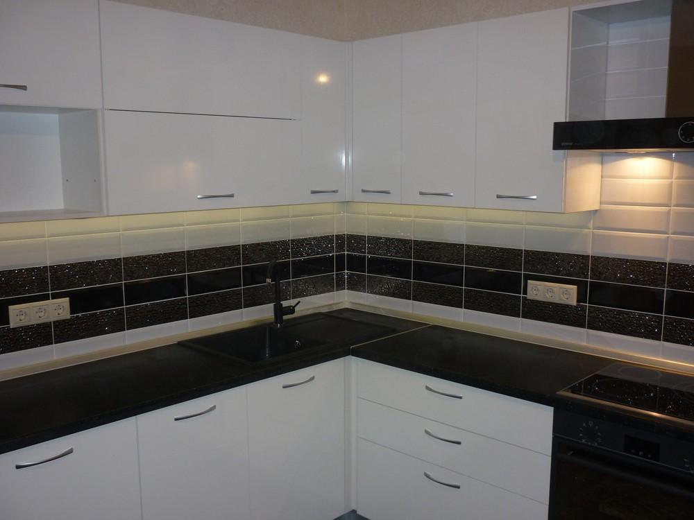 Белый кухонный гарнитур-Кухня МДФ в ПВХ «Модель 304»-фото5