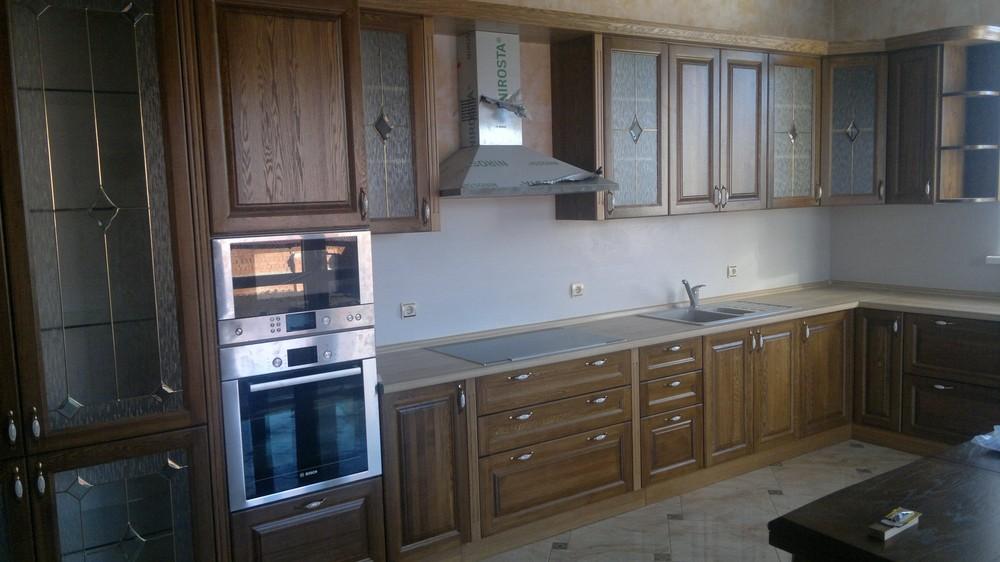Встроенная кухня-Кухня из шпона «Модель 333»-фото1