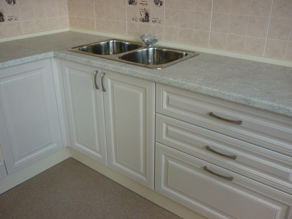 Белый кухонный гарнитур-Кухня МДФ в ПВХ «Модель 169»-фото5
