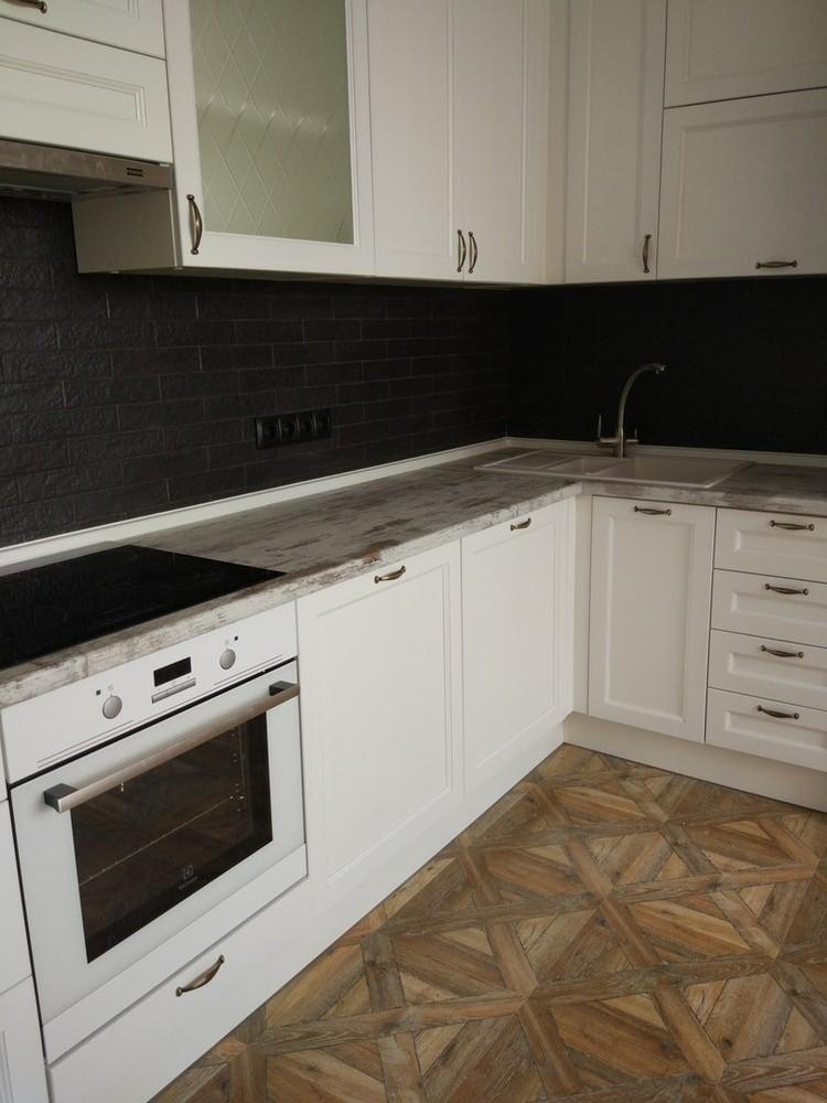 Белый кухонный гарнитур-Кухня МДФ в ПВХ «Модель 324»-фото4