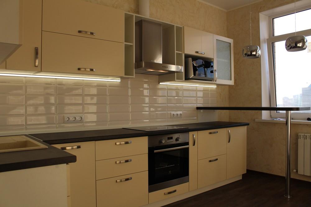 Акриловые кухни-Кухня МДФ в ПВХ «Модель 305»-фото4