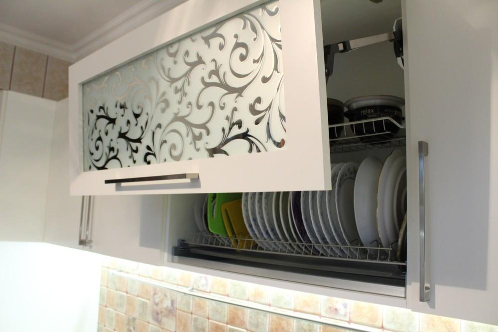Встроенная кухня-Кухня МДФ в ПВХ «Модель 372»-фото1