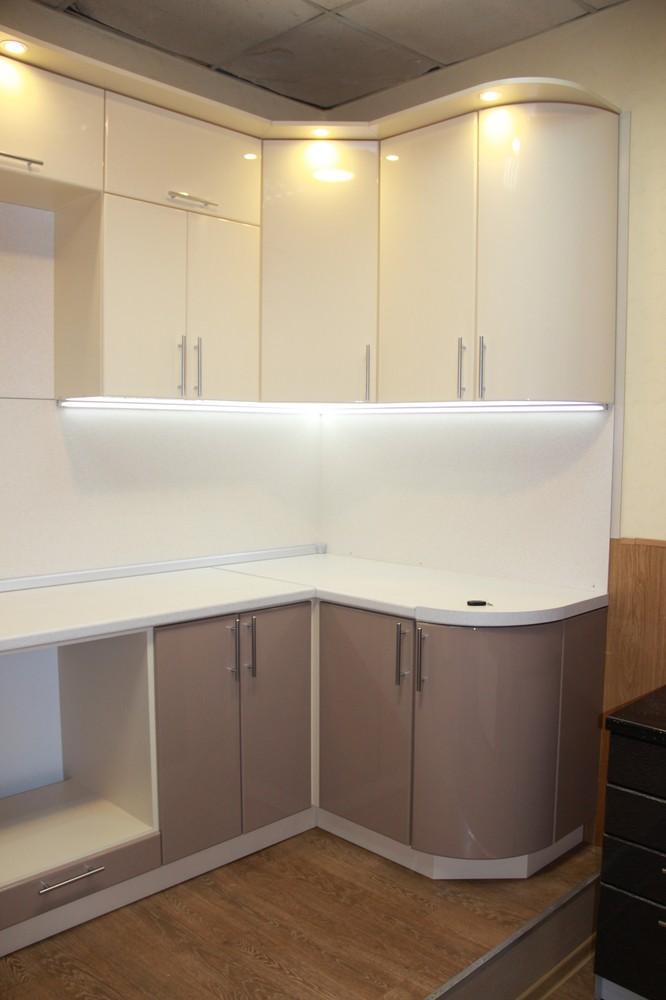 Встроенная кухня-Кухня МДФ в ПВХ «Модель 362»-фото2