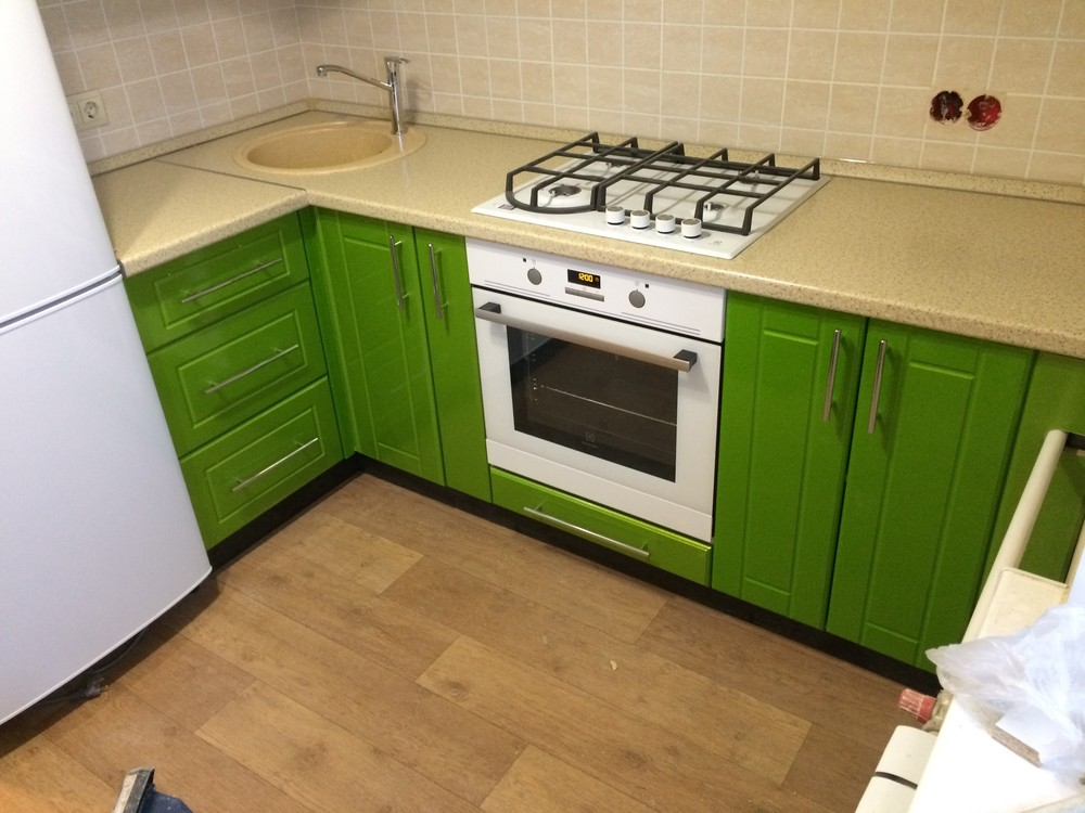 Встроенная кухня-Кухня МДФ в эмали «Модель 309»-фото3