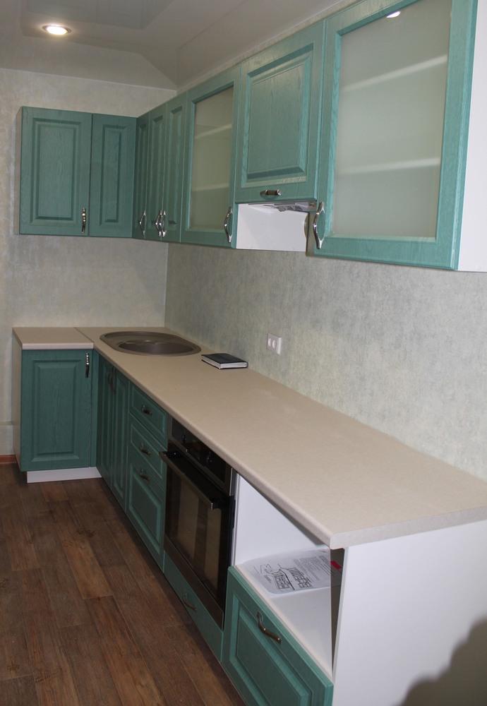 Встроенная кухня-Кухня МДФ в ПВХ «Модель 338»-фото1
