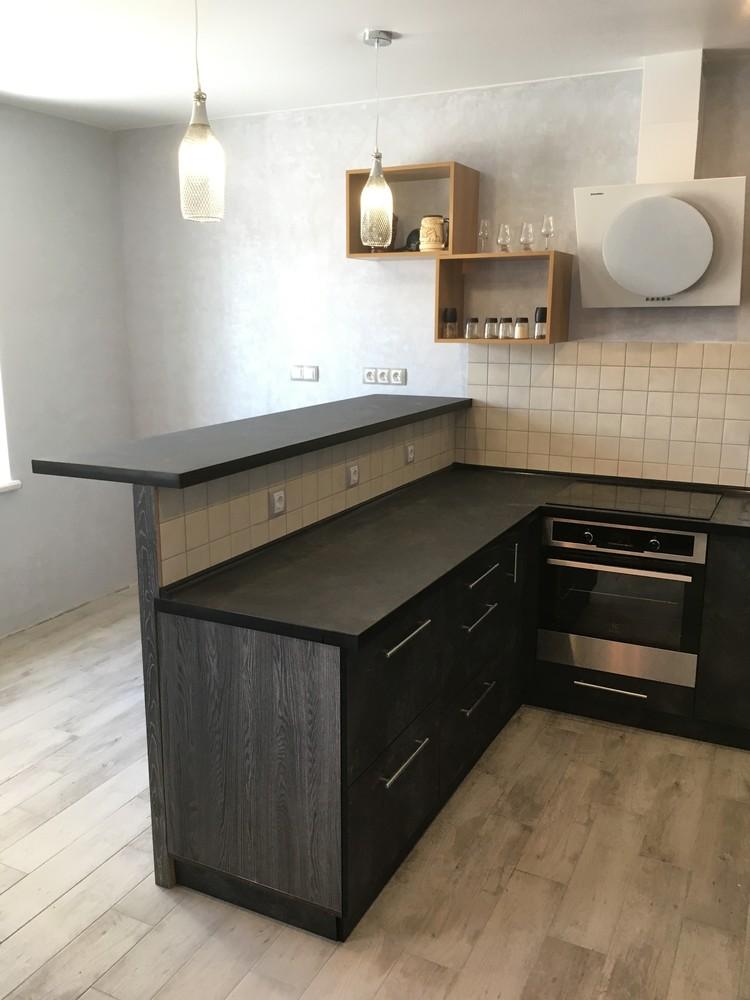 Встроенная кухня-Кухня МДФ в ПВХ «Модель 316»-фото1