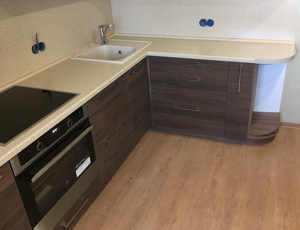Встроенная кухня-Кухня МДФ в шпоне «Модель 317»-фото4