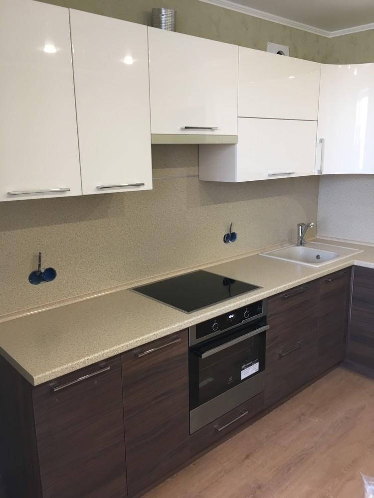 Встроенная кухня-Кухня МДФ в шпоне «Модель 317»-фото5