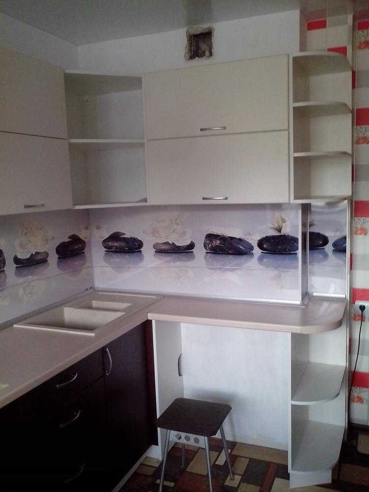 Белый кухонный гарнитур-Кухня МДФ в ПВХ «Модель 327»-фото3