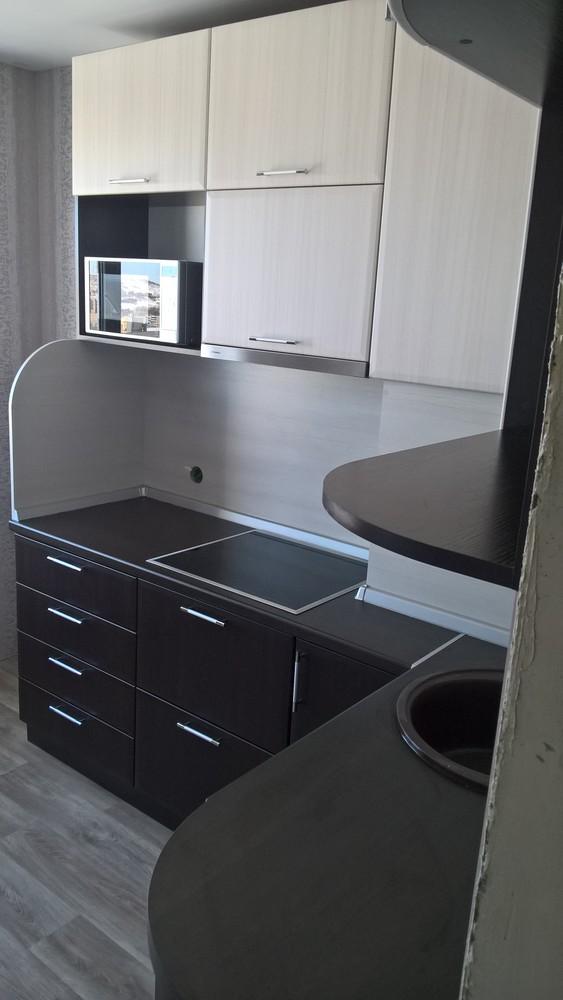 Встроенная кухня-Кухня МДФ в ПВХ «Модель 367»-фото3