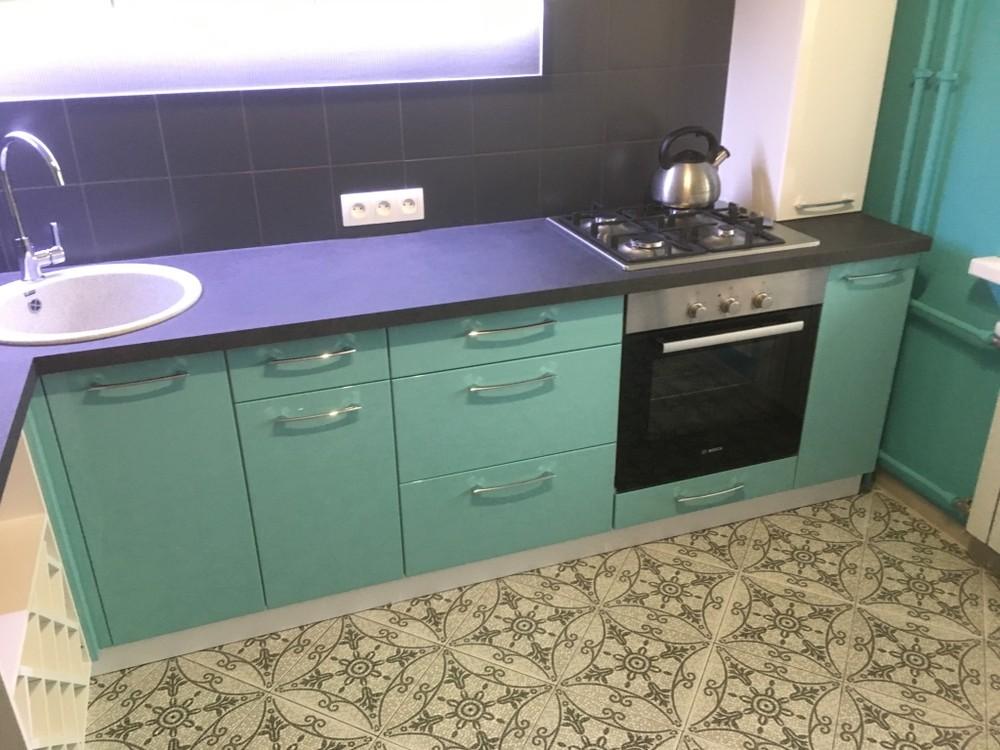 Белый кухонный гарнитур-Кухня МДФ в ПВХ «Модель 320»-фото2