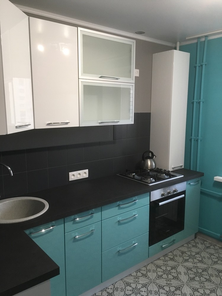 Белый кухонный гарнитур-Кухня МДФ в ПВХ «Модель 320»-фото6