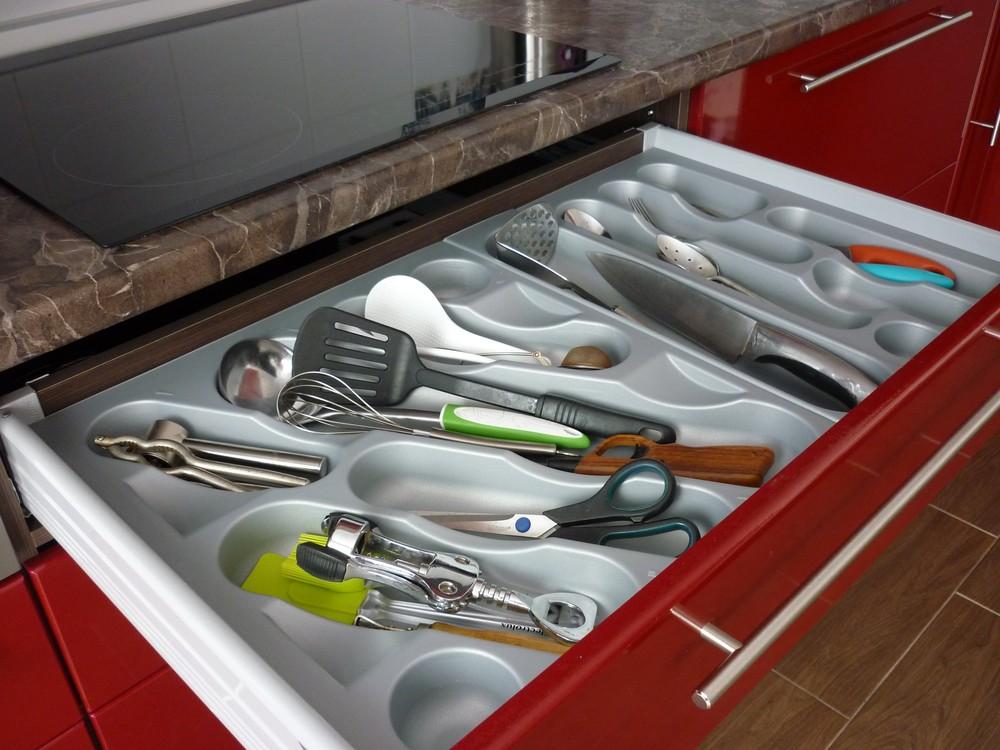 Встроенная кухня-Кухня МДФ в ПВХ «Модель 264»-фото3