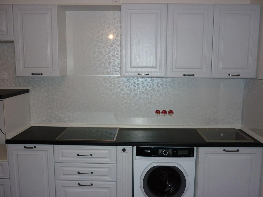 Белый кухонный гарнитур-Кухня МДФ в ПВХ «Модель 241»-фото3