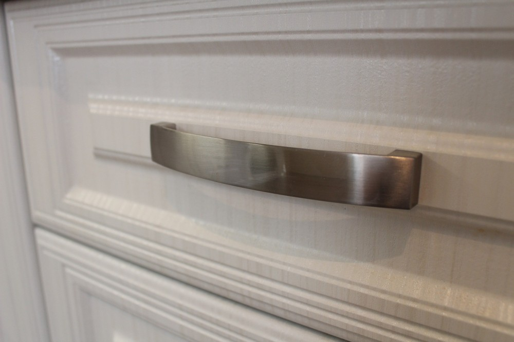 Белый кухонный гарнитур-Кухня МДФ в ПВХ «Модель 232»-фото4