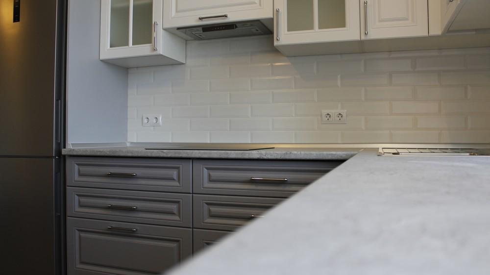 Белый кухонный гарнитур-Кухня МДФ в ПВХ «Модель 324»-фото5