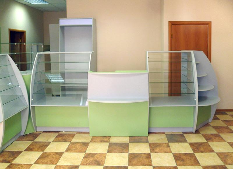 Торговая мебель-Мебель для аптеки «Модель 185»-фото3
