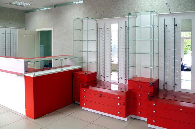 Торговая мебель-Мебель для оптики «Модель 208»-фото1