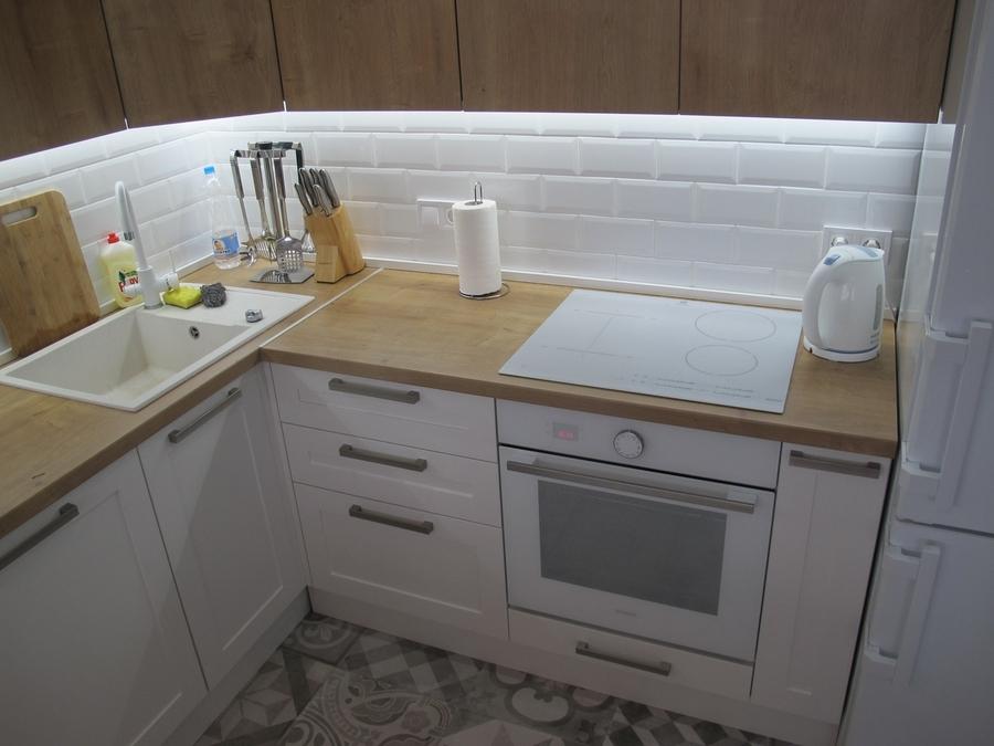 Белый кухонный гарнитур-Кухня из ЛДСП «Модель 346»-фото3