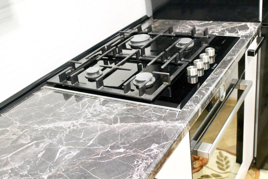 Белый кухонный гарнитур-Кухня МДФ в ПВХ «Модель 300»-фото9