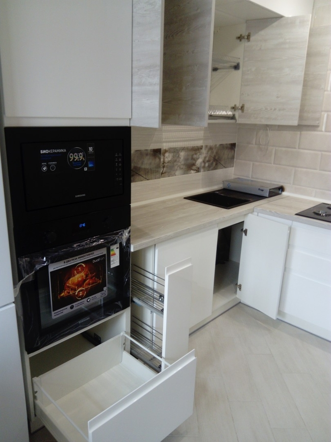 Белый кухонный гарнитур-Кухня МДФ в эмали «Модель 429»-фото7