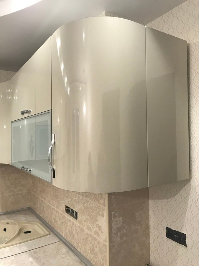 Глянцевые кухни-Кухня из пластика «Модель 393»-фото5