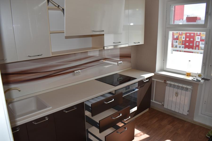 Белый кухонный гарнитур-Кухня МДФ в ПВХ «Модель 504»-фото8