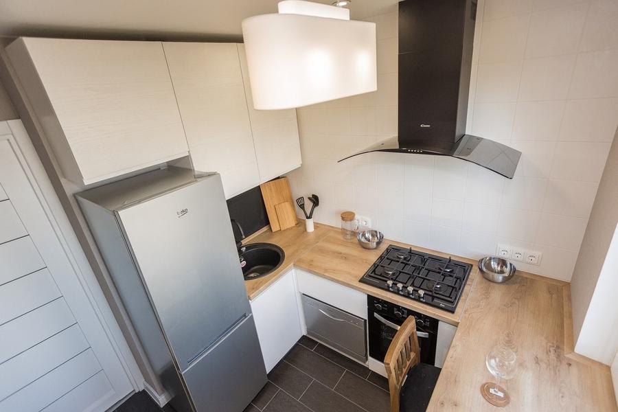 Белый кухонный гарнитур-Кухня МДФ в эмали «Модель 458»-фото1