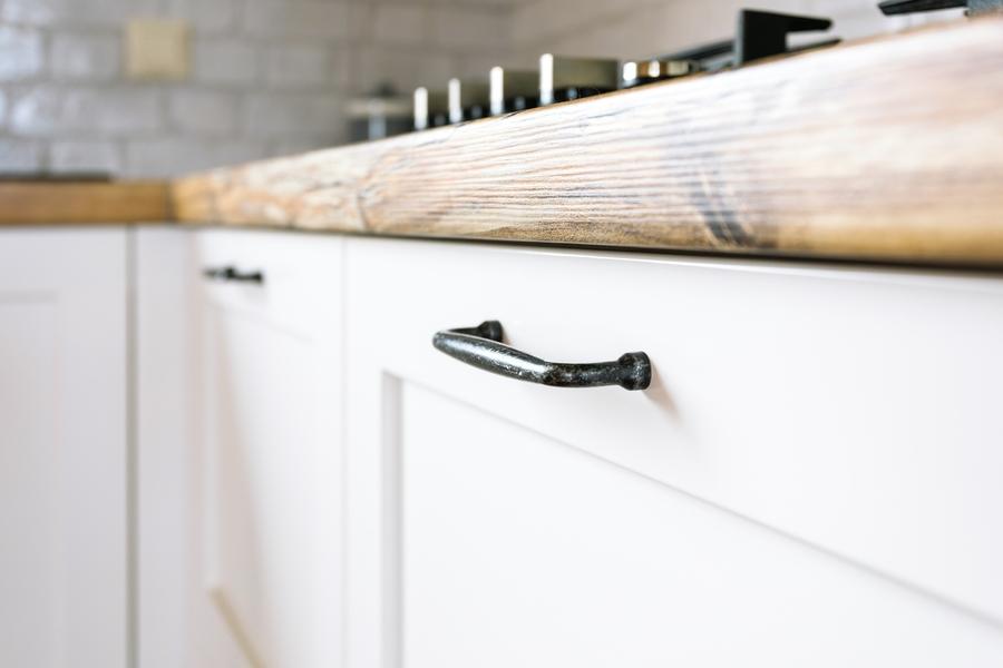 Белый кухонный гарнитур-Кухня МДФ в эмали «Модель 402»-фото4