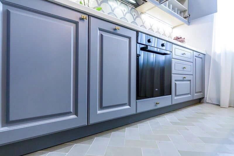 Встроенная кухня-Кухня МДФ в эмали «Модель 420»-фото3