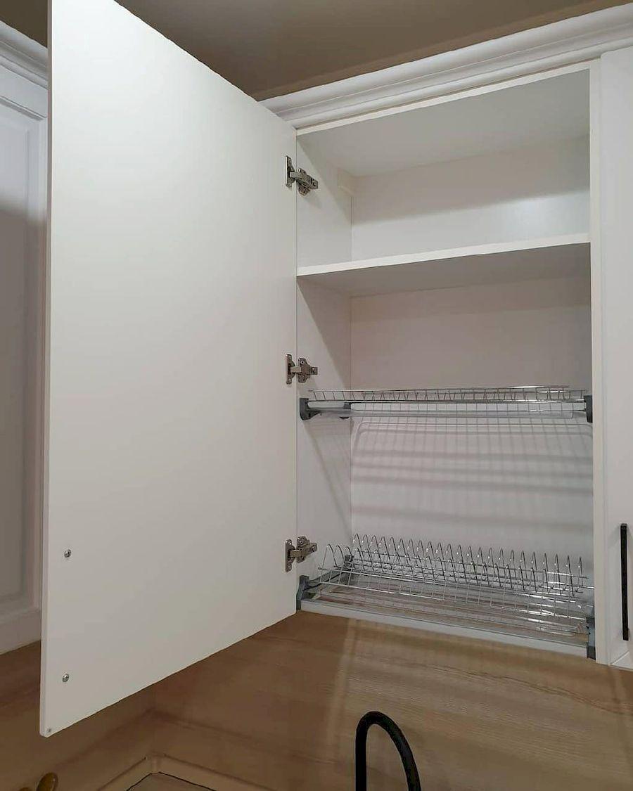 Белый кухонный гарнитур-Кухня МДФ в ПВХ «Модель 634»-фото6