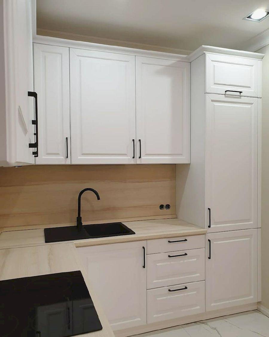 Белый кухонный гарнитур-Кухня МДФ в ПВХ «Модель 634»-фото4