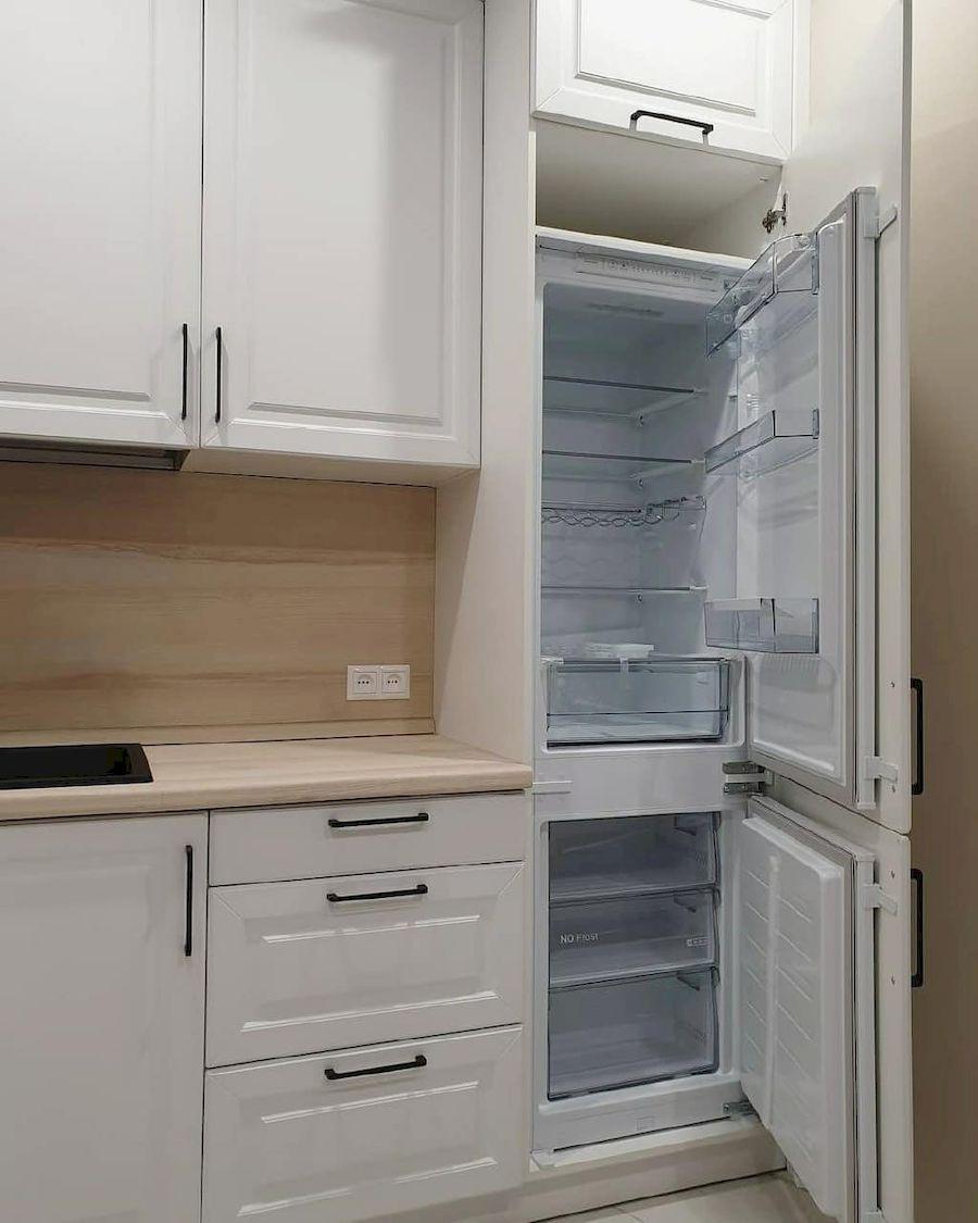 Белый кухонный гарнитур-Кухня МДФ в ПВХ «Модель 634»-фото5