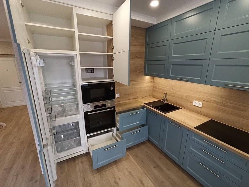 Классические кухни-Кухня МДФ в эмали «Модель 586»-фото5