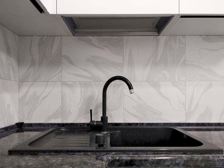 Белый кухонный гарнитур-Кухня МДФ в ПВХ «Модель 639»-фото7