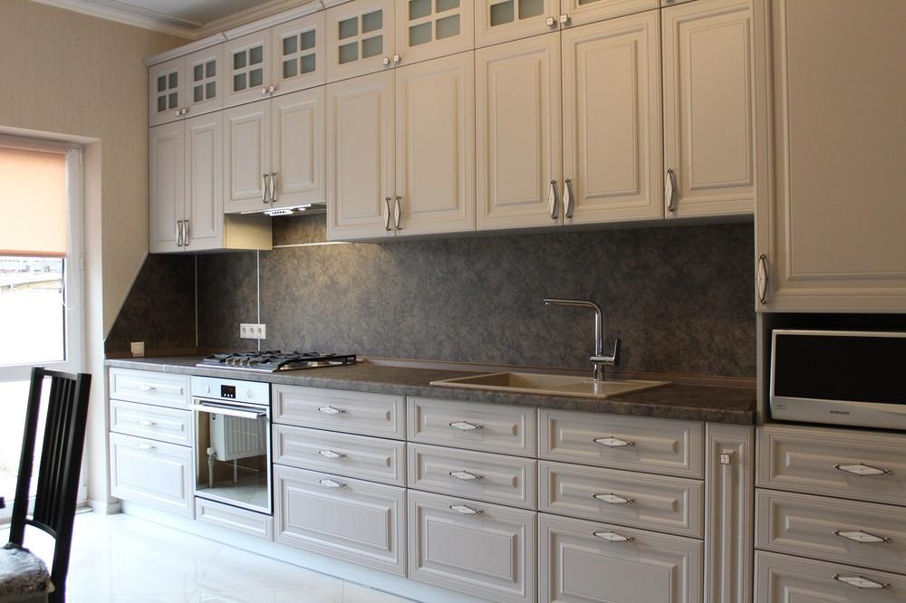 Встроенная кухня-Кухня МДФ в ПВХ «Модель 147»-фото7