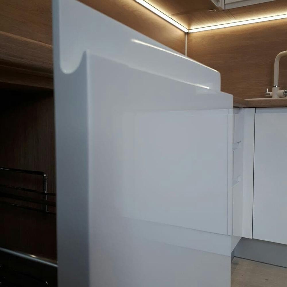 Белый кухонный гарнитур-Кухня МДФ в эмали «Модель 171»-фото3