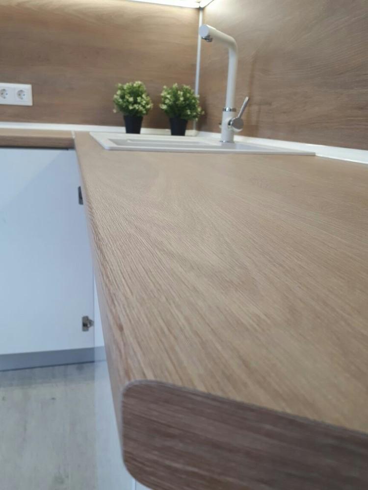 Белый кухонный гарнитур-Кухня МДФ в эмали «Модель 171»-фото5