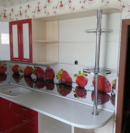 Встроенная кухня-Кухня МДФ в ПВХ «Модель 256»-фото4