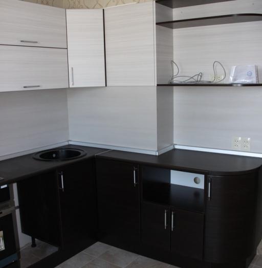 Встроенная кухня-Кухня МДФ в ПВХ «Модель 363»-фото4