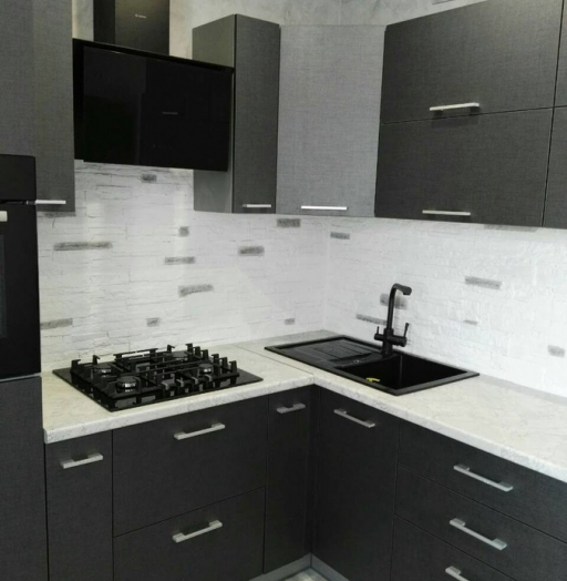 Встроенная кухня-Кухня из пластика «Модель 396»-фото3