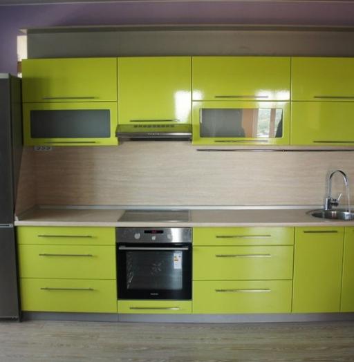 Встроенная кухня-Кухня МДФ в ПВХ «Модель 197»-фото4